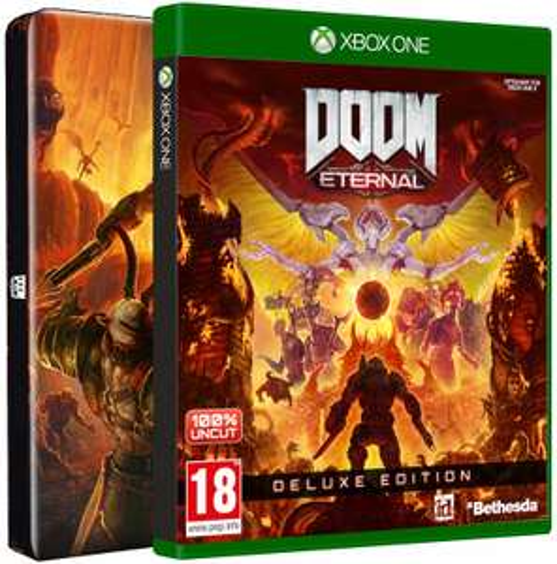 DOOM Eternal Deluxe Steel Edition inkl. Season Pass + DOOM 64 (Xbox One & PS4) für je 39,99€ (Gameware)