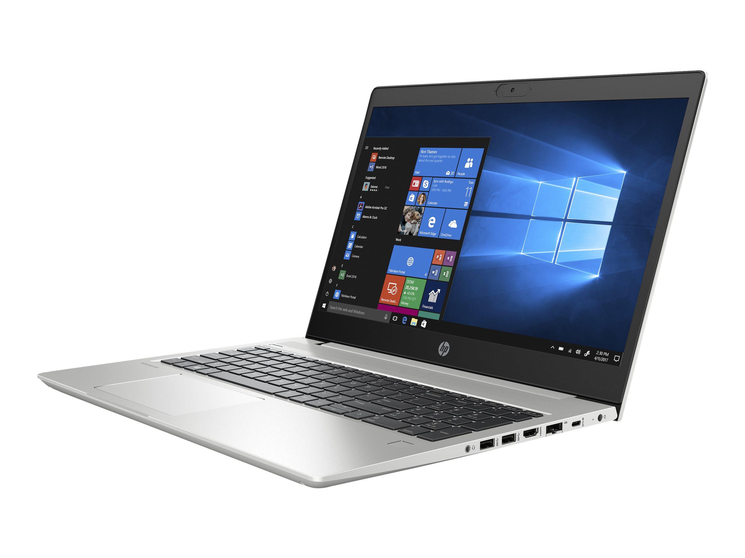 "[Easynotebooks] HP ProBook 455 G7 Pike Silver, 15.6"" IPS, Ryzen 5 4500U, 16GB RAM, 512GB SSD, beleuchtete Tastatur, FPR, Win10 Pro"