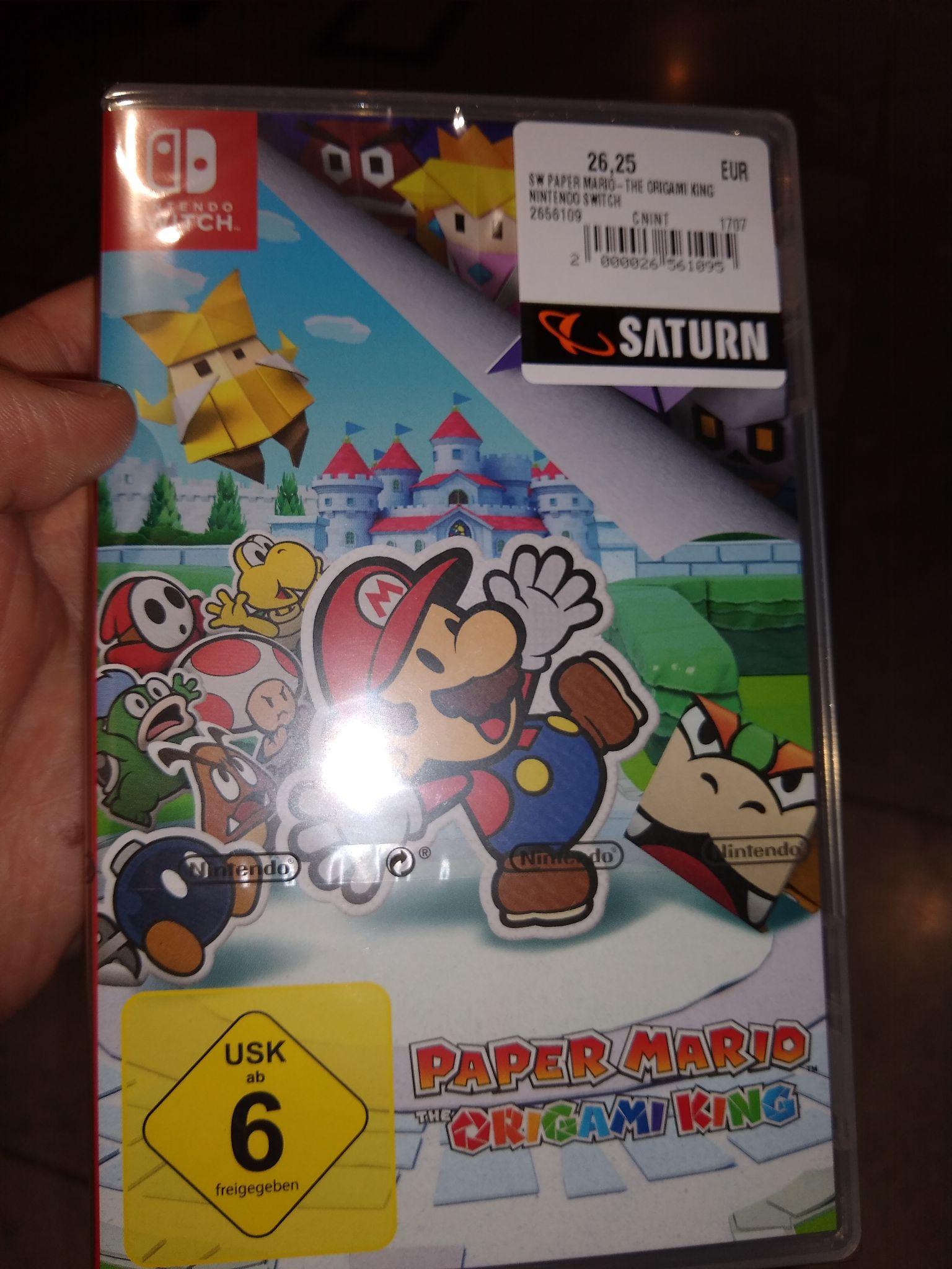 Lokal Deal Esslingen Saturn (Preisfehler)/ Paper Mario switch