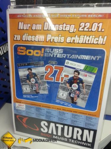 [LOKAL Berlin] FIFA 13 für Xbox360 und PS3 - Preis nur am 22.1.2013