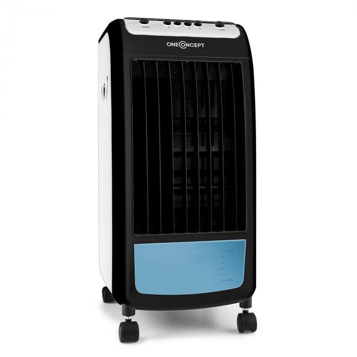 Sommer-Freunde! OneConcept Carribean Blue 3-in-1 mobiler Luftkühler   Schwarz & Weiß   bis 24Uhr heute 19.07.2020