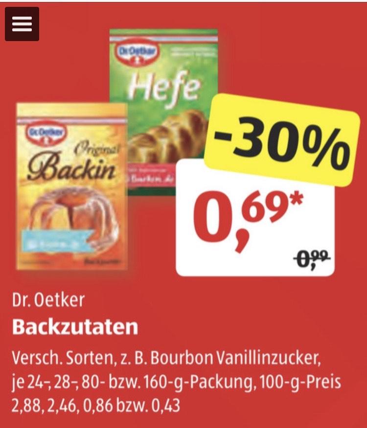 [Aldi Süd] Dr Oetker Backzutaten für je 0,69€ (zb Hefe, Backin, Vanillezucker, ...)