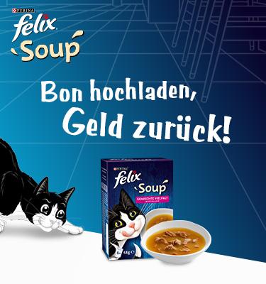 """6€ Geld zurück für FELIX Soup - """"Gratis Testen"""""""