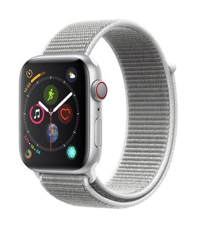 Apple Watch Series 4 (GPS+Cellular) 44mm Aluminiumgehäuse Sportloop silber/muschel