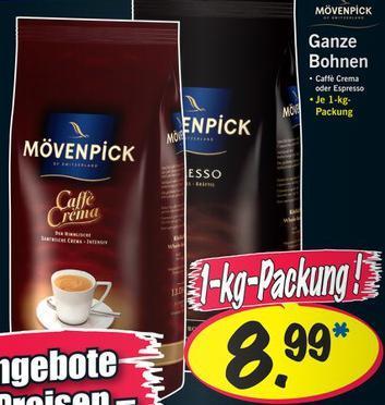 Mövenpick ganze Bohne 1Kg (Caffè Crema / Espresso) [Lidl am 26.01.2013]
