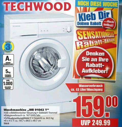 [LOKAL?] Techwood WB 91042 Y Waschmaschine E-Center Osnabrück