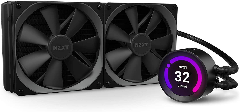 NZXT Kraken Z63 280mm - AIO RGB CPU-Flüssigkeitskühler (Anpassbares LCD-Display, Stromversorgung über CAM V4 - Aer P 140mm Kühlerlüfter)
