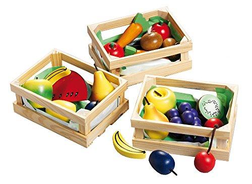 Happy People Spielzeug Holzkorb mit Holzobst und Holzgemüse sortiert für 5,84€ (Amazon Prime)