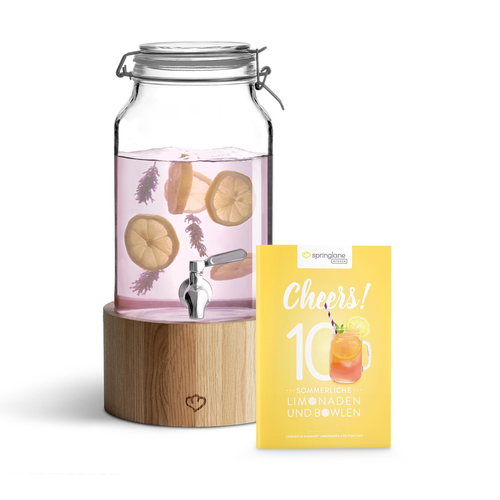 Springlane Kitchen Glas Getränkespender Greta 3,8 L mit Zapfhahn