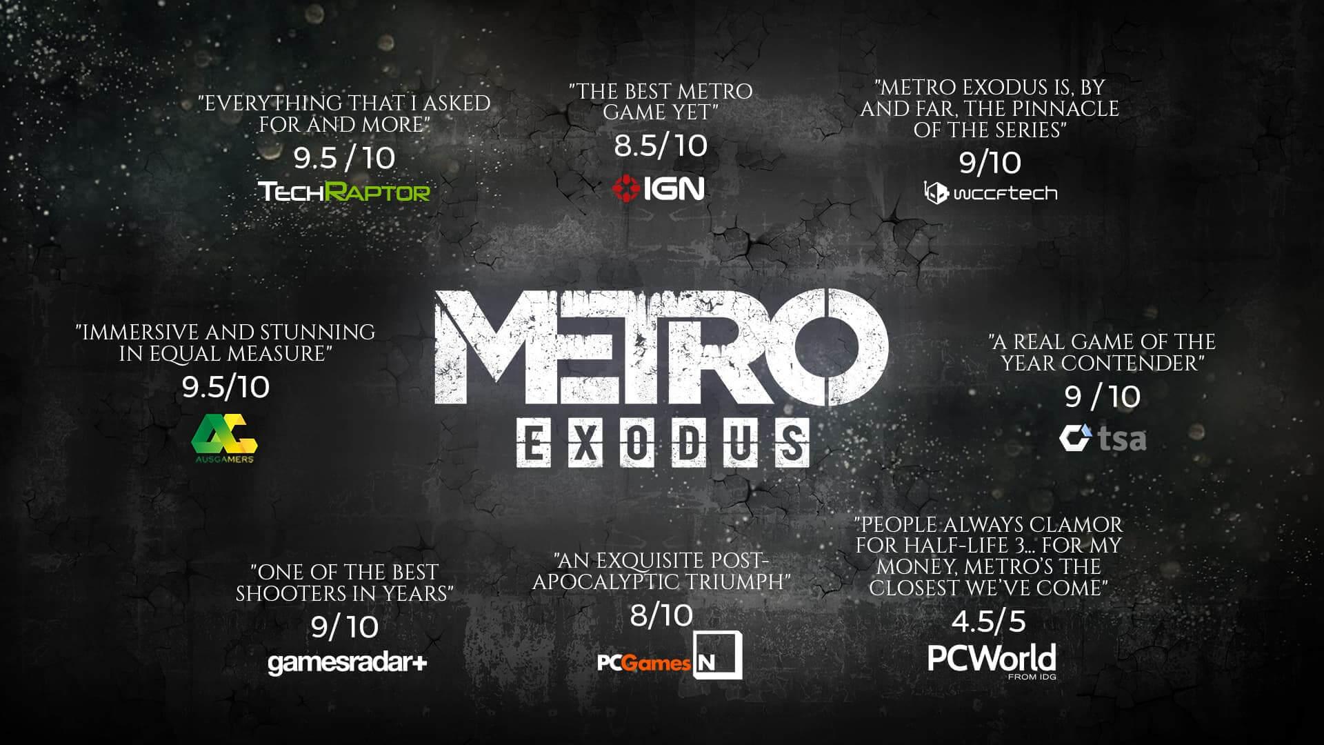 Metro Exodus PC (Epic Games Store mit 10€-Gutschein)