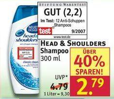 [Rossmann] Head & Shoulders 300ml mit Coupon für 1,79€