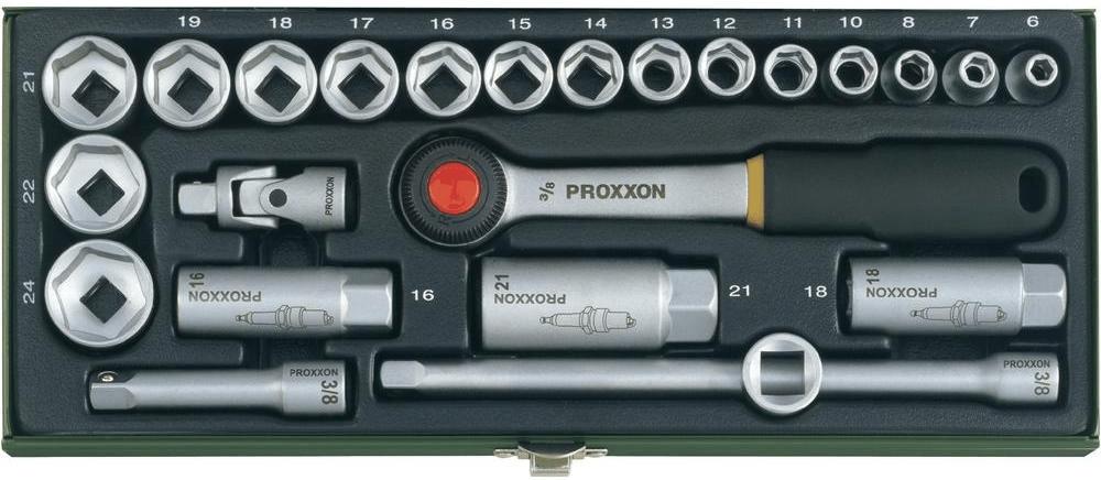"""Proxxon Industrial Steckschlüsselsatz metrisch 3/8"""" 24teilig 23110 für 29,58€ [Voelkner]"""