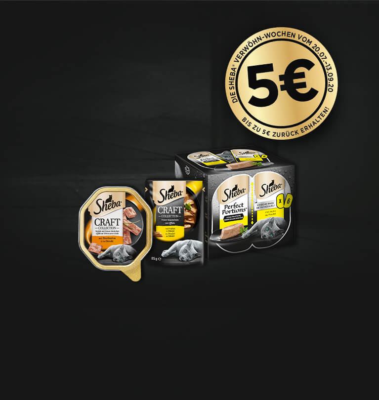 """Geld zurück für Sheba """"Perfect Portions"""" und """"Craft Collection"""" (bis zu 5€)"""
