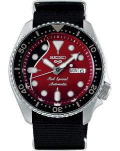 """Seiko 5 SRPE83K1 """"Red Special"""" / Queen's Brian May / Limited Edition"""