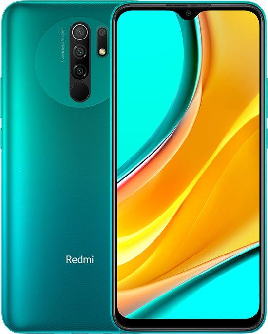 "Xiaomi Redmi 9 - Dual-SIM Smartphone 6,53"" 4/64GB (NFC, USB-C, 5.020 mAH, FHD+, 13MP Quad-Kamera) grün, lila oder grau"
