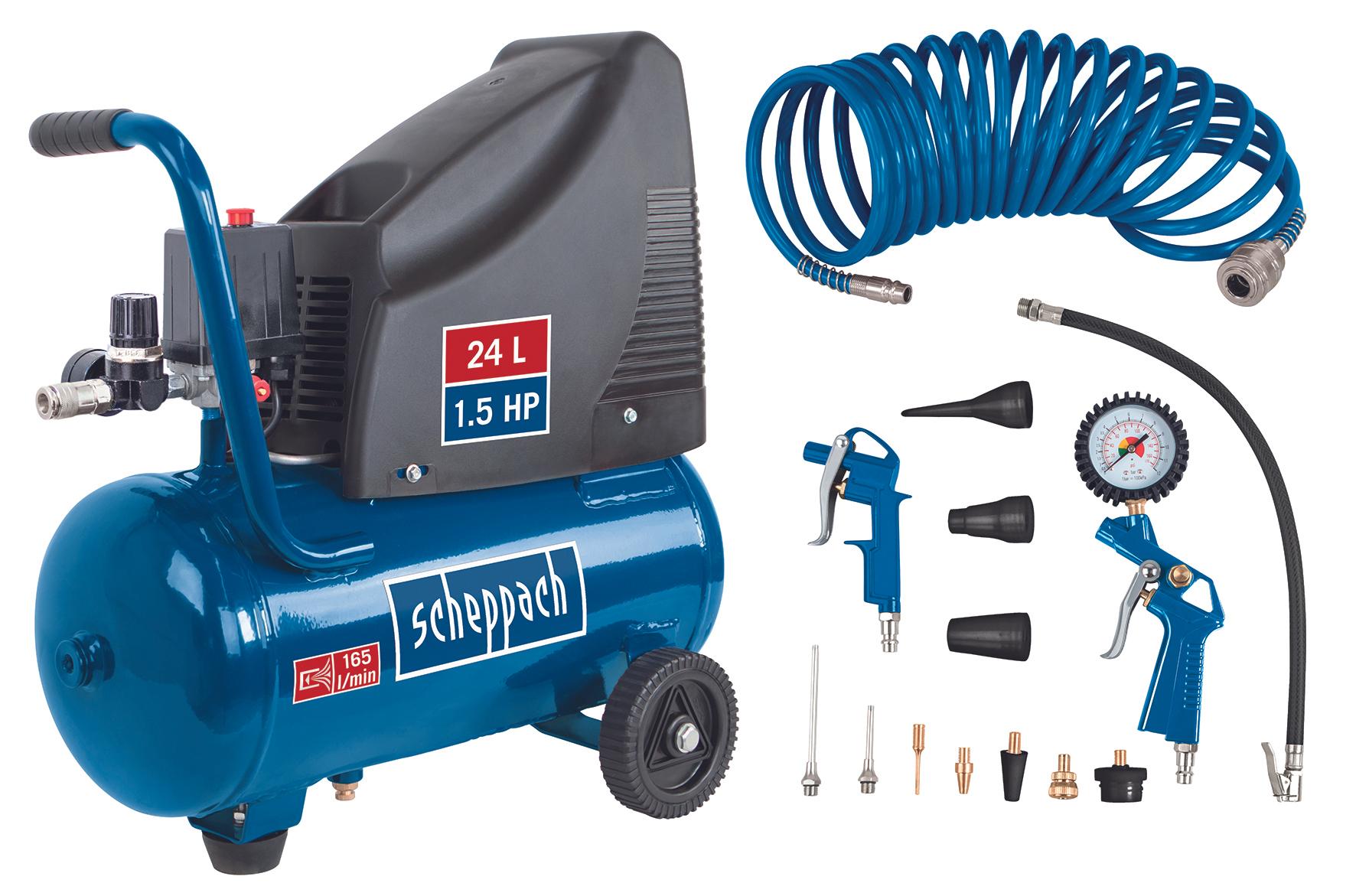 Scheppach Kompressor GK250o (Ölfrei), 230 V, 1100 W, 8 bar, 24 l für 86,76 Euro [Globus Baumarkt Filiale]