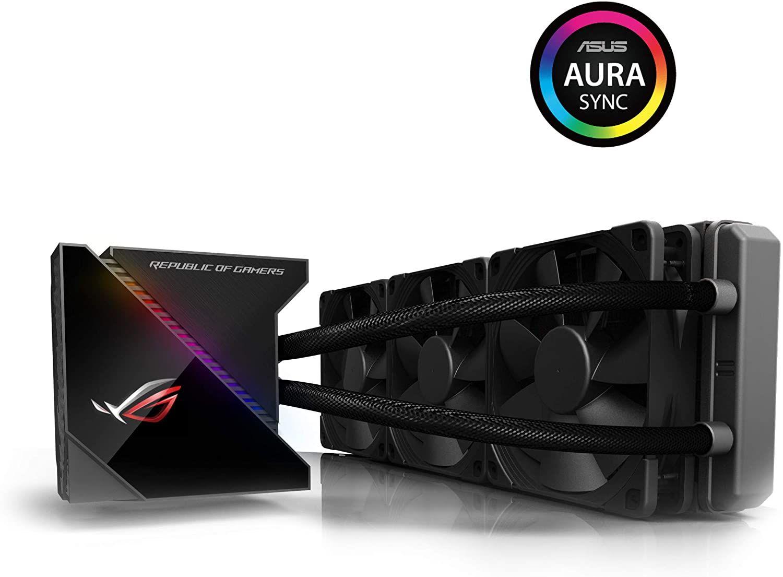 ASUS ROG Ryujin 360 All-in-One CPU-Wasserkühlung (1,77 Zoll OLED-Display, Aura Sync RGB, Noctua iPPC 2000 PWM 3 x 120 mm Radiatorlüfter)