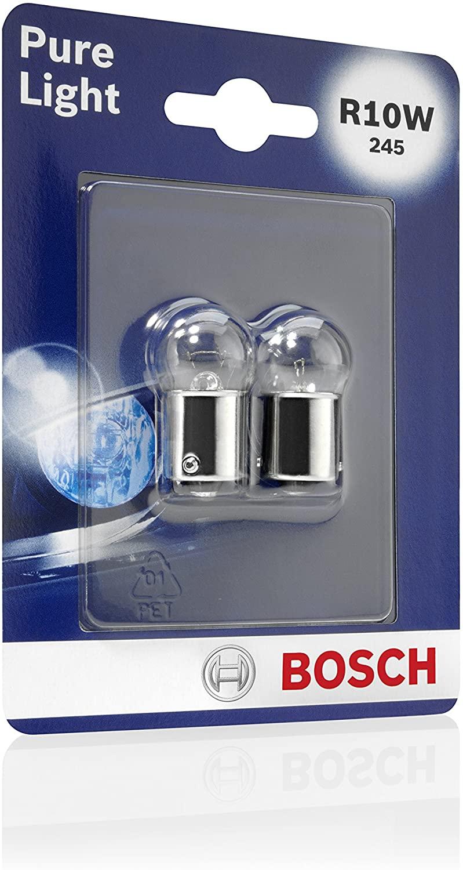 (amazon.de - Prime) Bosch 1987301019 Autolampe R10W PURE LIGHT - Stopp-/Blinklicht-/Schluss-/Kennzeichenlampe