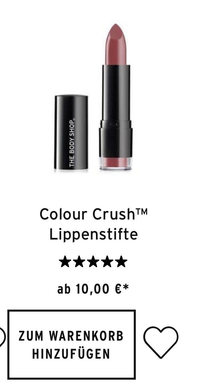 [LOKAL] Gratis Color Crush Tahiti Hibiscus Lipstick von The Body Shop
