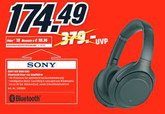 [lokal: MediaMarkt Ingolstadt] Sony WH-1000XM3 - 174,49€ | Sony WF-1000XM3 - 125,75€ | Google Pixel 3a - 238,82€ | LG OLED55C9PLA - 1071,29€