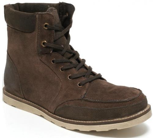 Leder Herren Winter Boots Gr. 42-45 Winterschuhe Braun