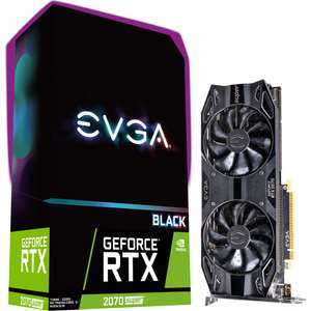 EVGA GeForce RTX 2070 SUPER Black Gaming 8GB GDDR6 (Mit ClubRakuten effektiv für 430,08€ möglich)
