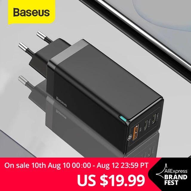 [Aliexpress Brandfest 10.-12.8.20] Baseus 65W GaN Ladegerät für 19,99$ & Baseus 120W GaN für 44,71$ und weitere Angebote