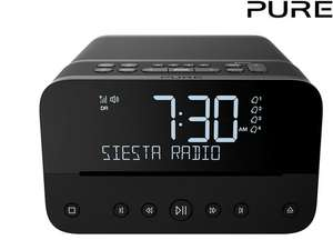 "PURE Bluetooth-Radiowecker ""Siesta Home"" (DAB+ und CD-Player, USB, AUX, Akkuladefunktion) [iBOOD]"