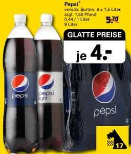 Pepsi / Pepsi Light - 6x 1,5 Liter für 4€ @ Netto (1l = 0,44€)