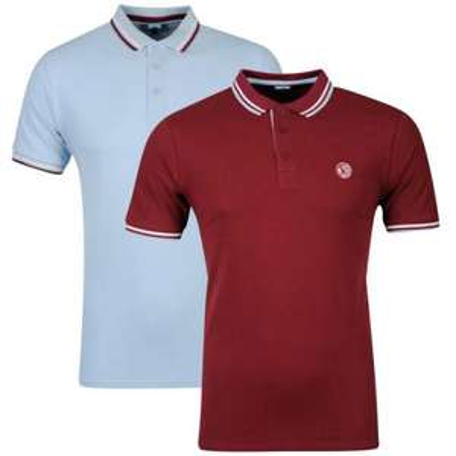 Carter Men's 2-Pack Polo Shirt - Sky/Burgundy