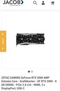 RTX 2080 Super Zotac Gaming 8 GB