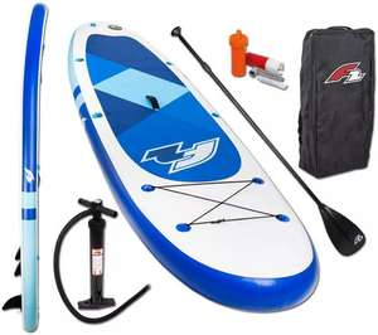 F2 Inflatable SUP-Board 350 »F2 Prime blue mit Alupaddel«, (Set, 4 tlg)