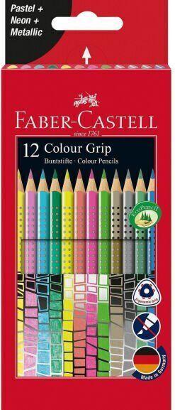 FABER CASTELL Farbstift Colour Grip 12er-Etui Karton, Sonderfarbenset für 5,49€ (Müller Abholung)