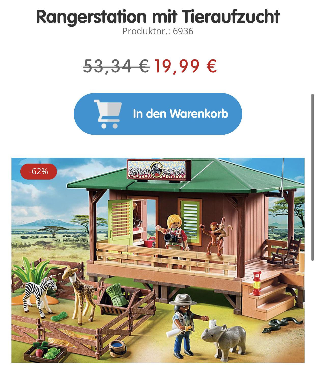 Playmobil 6936- Rangerstation mit Tieraufzucht