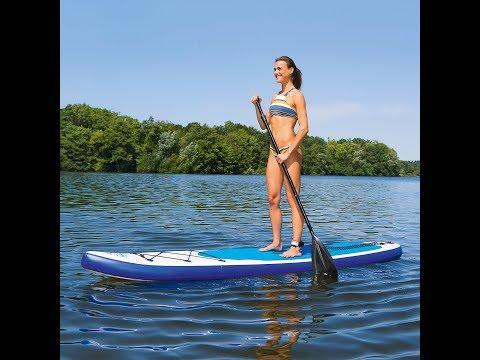 EASYmaxx Stand Up Paddle Board inkl. Tragetasche, Reparatur-Kit & Luftpump für 219€ [real]