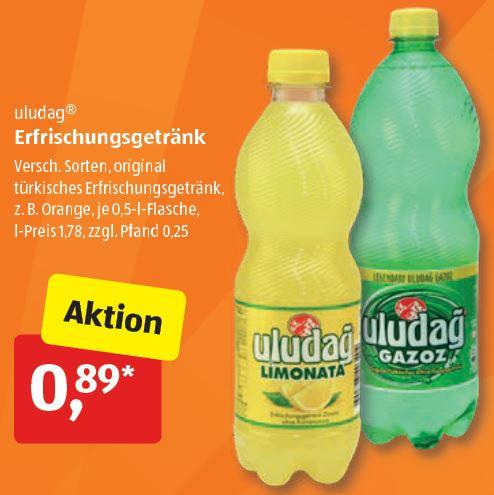 Uludağ Gazoz versch. Sorten 0,5L für nur 0,89€ ab 07.08. [ALDI-SÜD]