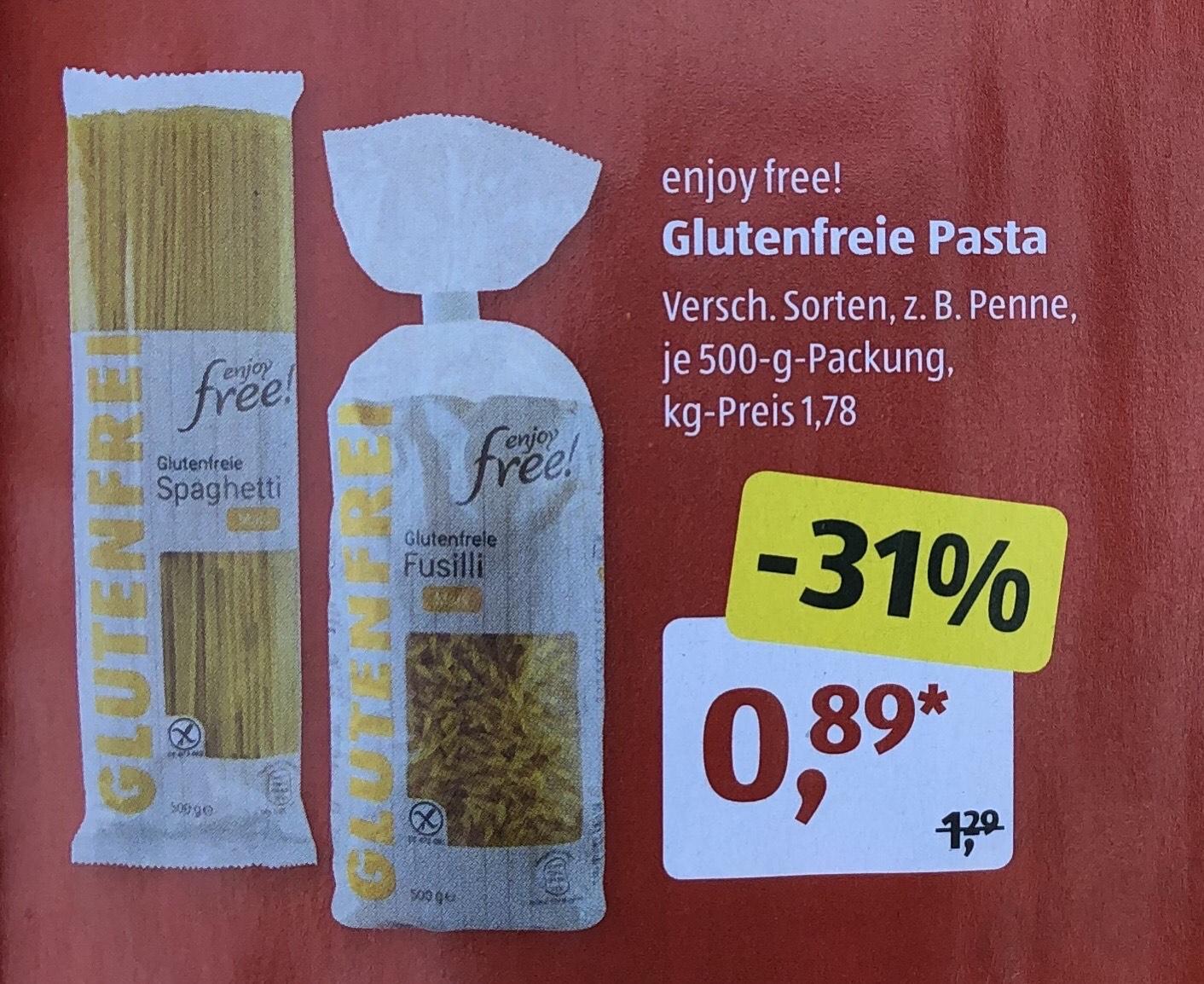"""[Aldi Süd] Glutenfreie Pasta """"enjoy free!"""" für 0,86€"""