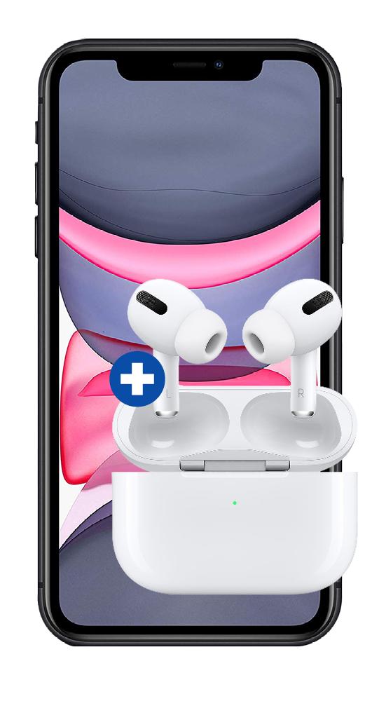 [Young MagentaEINS] Apple iPhone 11 64GB + Airpods Pro + 100€ Cashback im Telekom Magenta Mobil M (24GB LTE) einm. 4,95€ | 11 Pro 69,95€