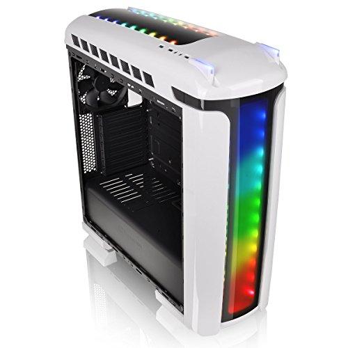 "Thermaltake Versa C22 RGB Snow Edition (bis ATX, 52l, inkl. 120mm-Lüfter hinten, 2x 2.5""/3.5"", 2x 2.5"", Acrylfenster, Staubfilter)"