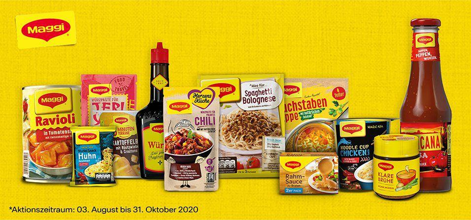 Maggi Cashback Aktion 7 Produkte Deiner Wahl kaufen & 1,50 € aufs Konto zurück (3 Teilnahmen möglich)