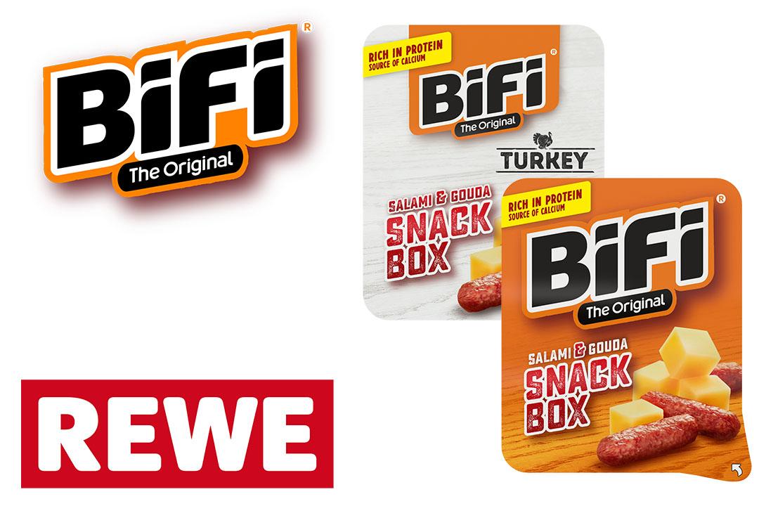GzG: je 2x 100 % Cashback: BiFi Snack Box und BiFi Turkey Box bei REWE West - Scondoo und Coupies