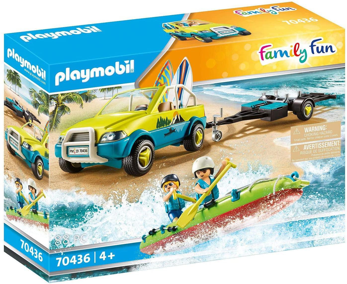 Playmobil Family Fun - Strandauto mit Kanuanhänger für 24,37€ (Müller Abholung)