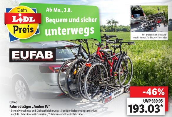 Eufab Amber IV 4 Fahrradträger Anhängerkupplung