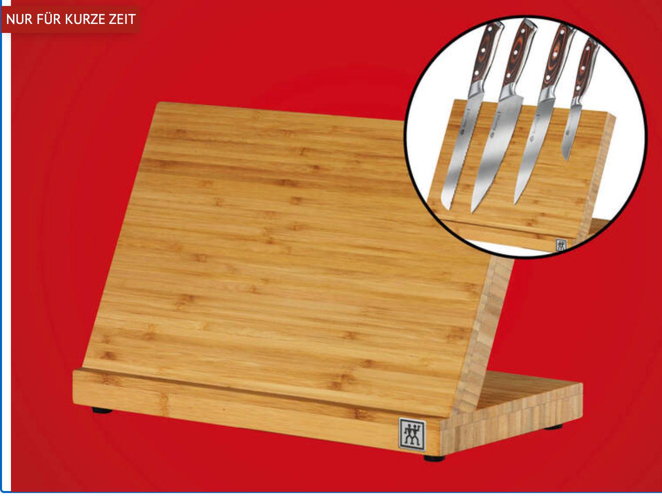 [bofrost] -50 % auf Küchenartikel - z.B. ZWILLING Magnetischer Messerblock aus Bambus