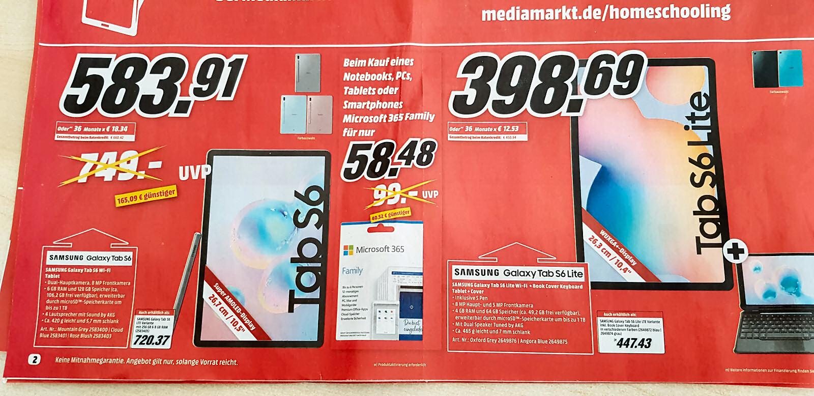 Samsung Galaxy TAB S6 WiFi 128 GB