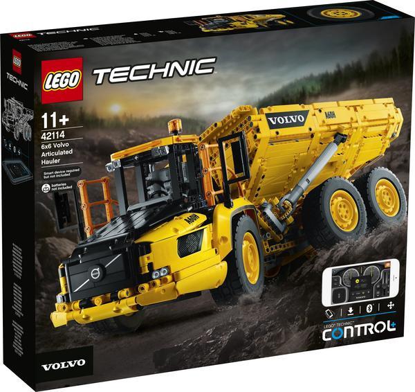 [0815] Lego Technic Knickgelenkter Volvo-Dumper 6x6 mit Handy-App (Bluetooth) Steuerung, 3 Motoren