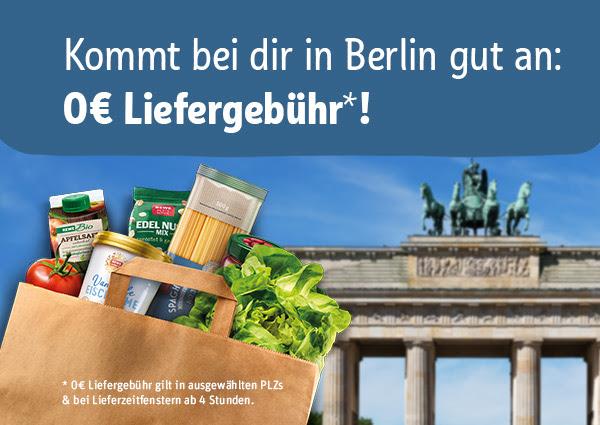 [Lokal Berlin] REWE Lieferservice ohne Liefergebühr in ausgewählten PLZ (4h Fenster)