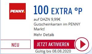 [Payback] 100 Extra Punkte auf DAZN 9,99€ Geschenkkarten bei Penny
