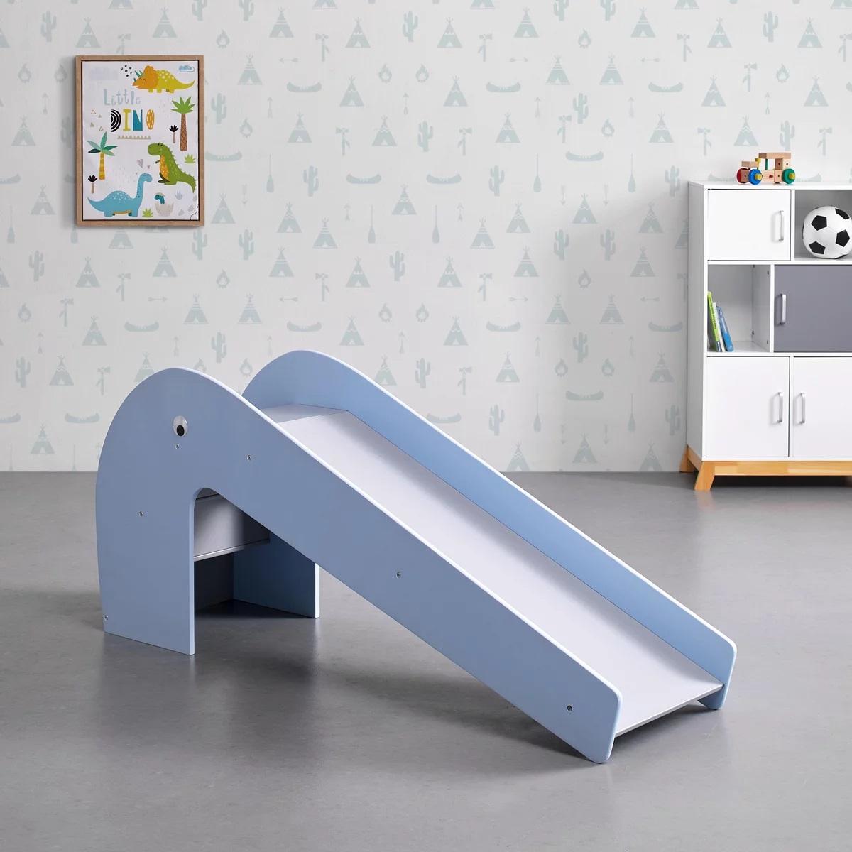 [Mömax] Kinderrutsche in blau/grau 'Elephant' aus Holz