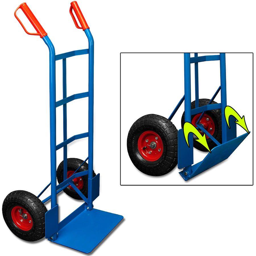 Deuba Sackkarre bis 200 kg (Stahl, klappbar, Luftbereifung, Radschutz)